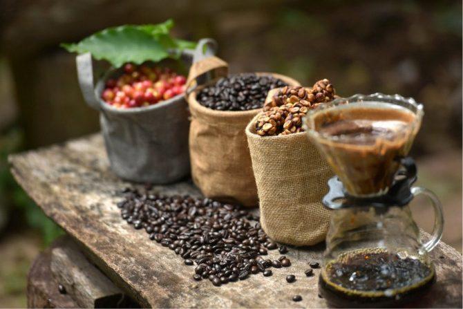 Beneficios del café (granos de café)