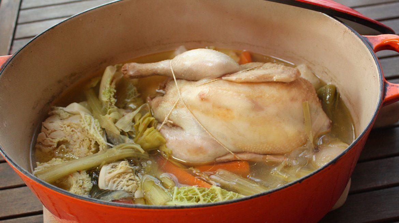 caldo de pollo calorias
