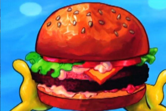 Qué lleva la cangreburger de Bob Esponja