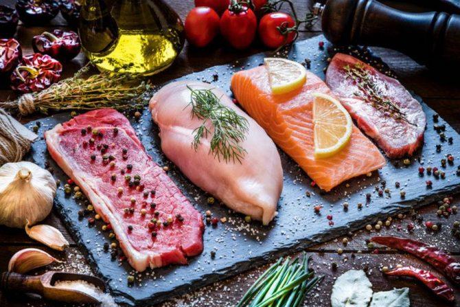 Carnes ricas en proteína y ácido hialurónico