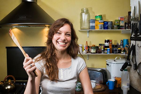 Cocinar y trabajar desde casa