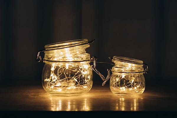 frascos con luz