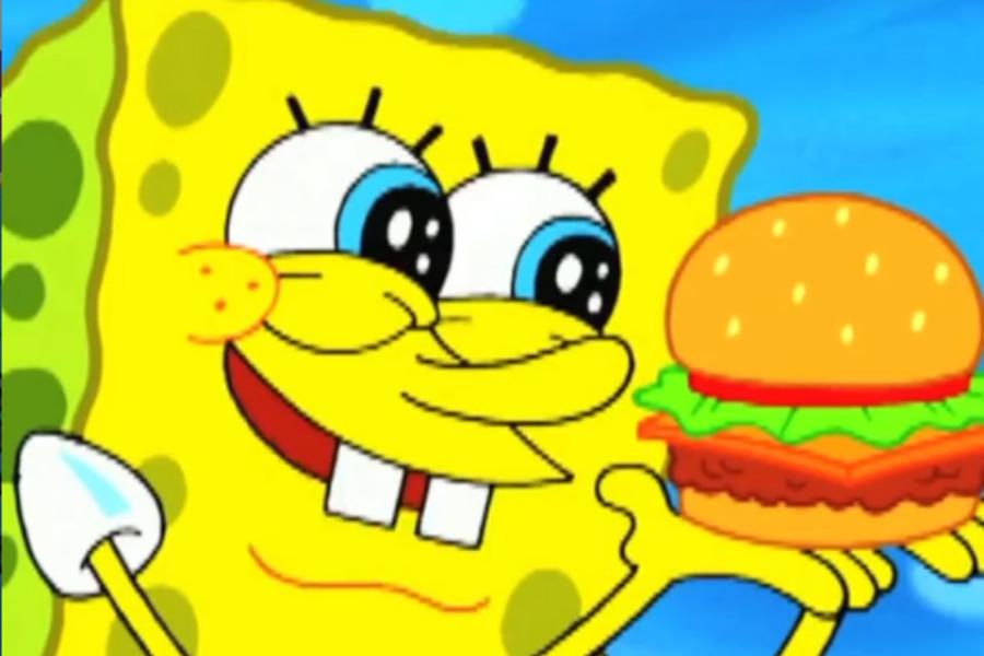 Receta de la cangreburger de Bob Esponja