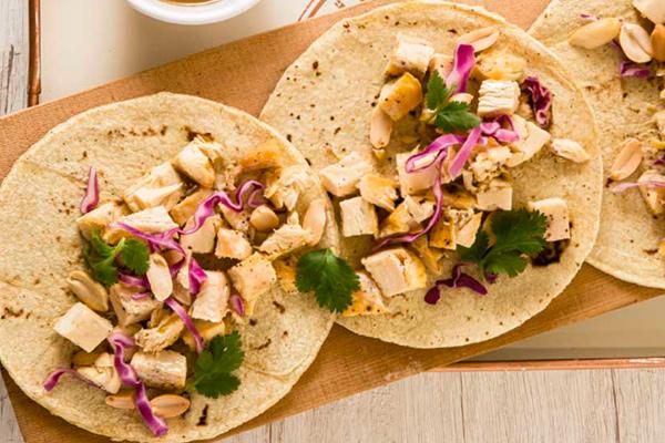 Recetas de pollo, recetas con pollo: tacos de pollo estilo thai