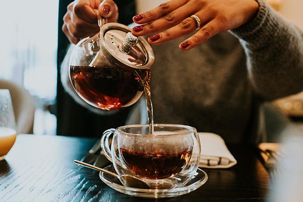 té de hojas vaporub