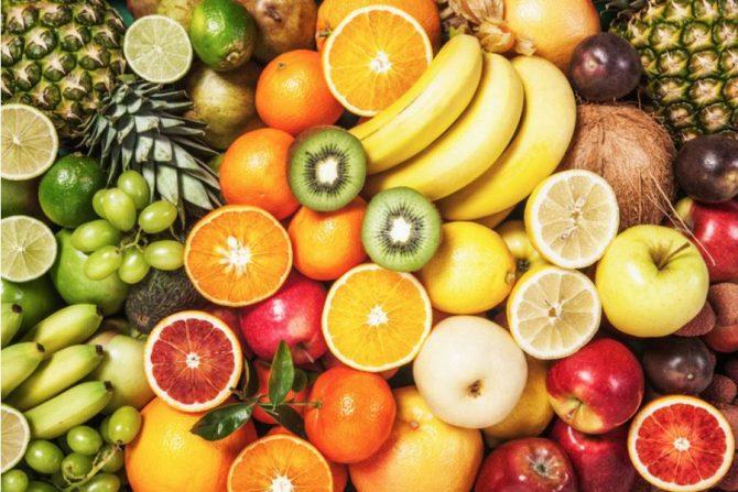 Frutas con fibra y vitamiza C
