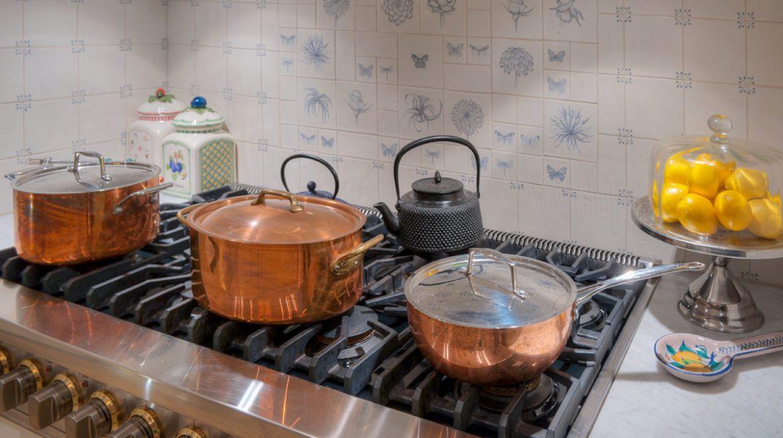 recipientes de cobre