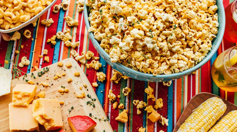 cómo hacer palomitas de maíz con queso