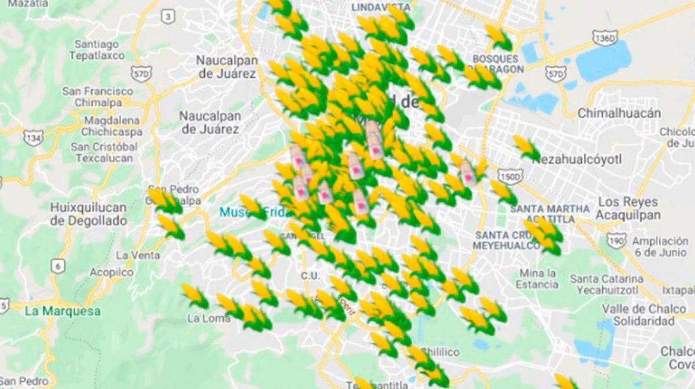 Google Maps: elotes y esquites