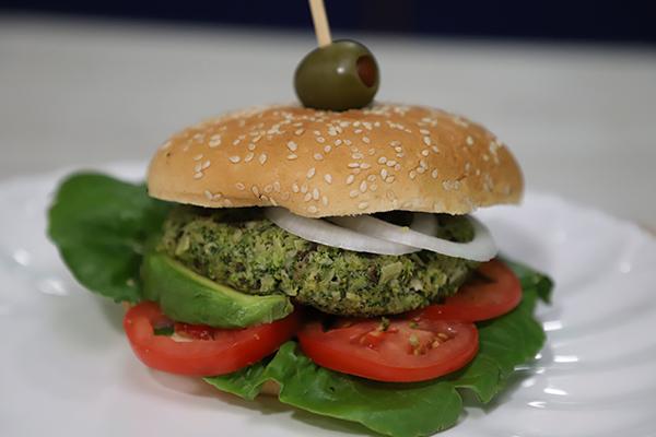 Hamburguesa de brócoli