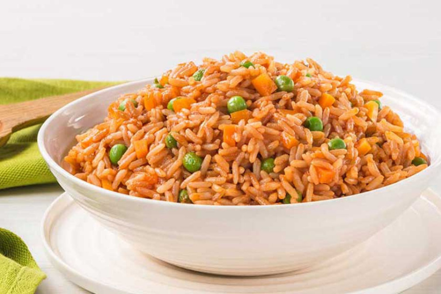 Tacos con arroz rojo