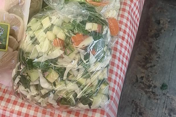 verdura cortada