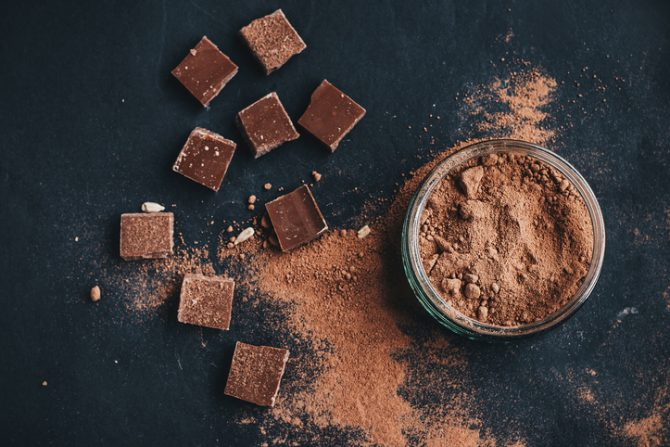chocolate en polvo para tinte de cabello